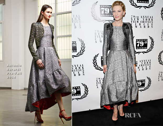 Cate Blanchett In Antonio Berardi - New York Film Critics Circle Awards