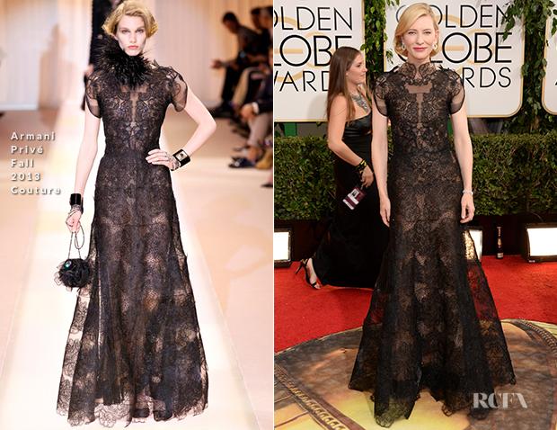 Cate Blanchett In Armani Privé Couture - 2014 Golden Globe Awards