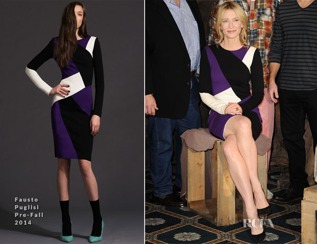 Cate Blanchett In Fausto Puglisi - 'The Monuments Men' LA Photocall
