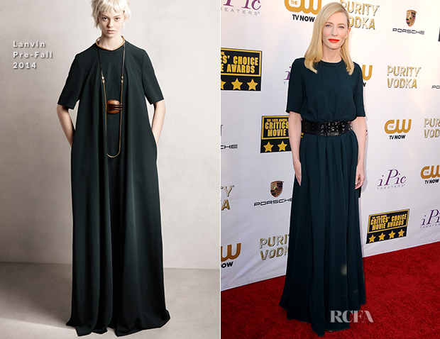 Cate Blanchett In Lanvin - 2014 Critics' Choice Movie Awards