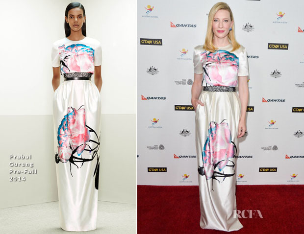 Cate Blanchett In Prabal Gurung - G'Day USA Los Angeles Black Tie Gala