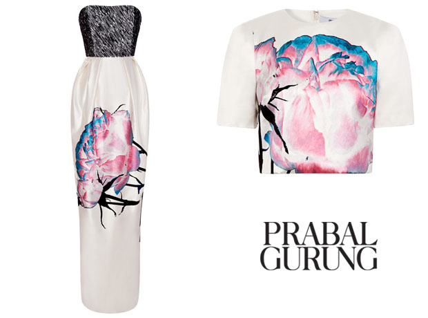 Cate Blanchett Prabal Gurung Embroidered Bodice Painted Floral Gown