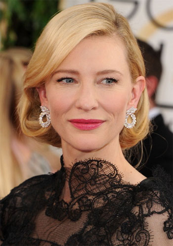 Cate Blanchett's 2014 Golden Globes Romantic Makeup Look