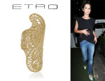 Cheryl Cole's Etro Gold-Plated Paisley Ring