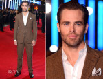 Chris Pine In Ralph Lauren Purple Label - 'Jack Ryan: Shadow Recruit' London Premiere
