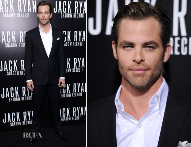 Chris Pine In Ralph Lauren Purple Label - 'Jack Ryan Shadow Recruit'