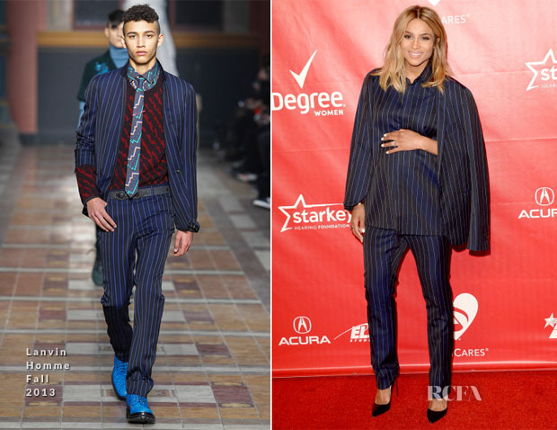 Ciara In Lanvin Homme - The 2014 MusiCares Person Of The Year Gala Honoring Carole King