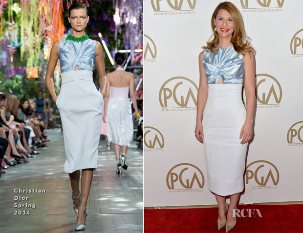 Claire Danes In Christian Dior -  2014 Producers Guild Awards