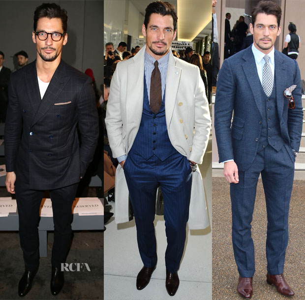 London Men Fashion Week 2014 David Gandy The London