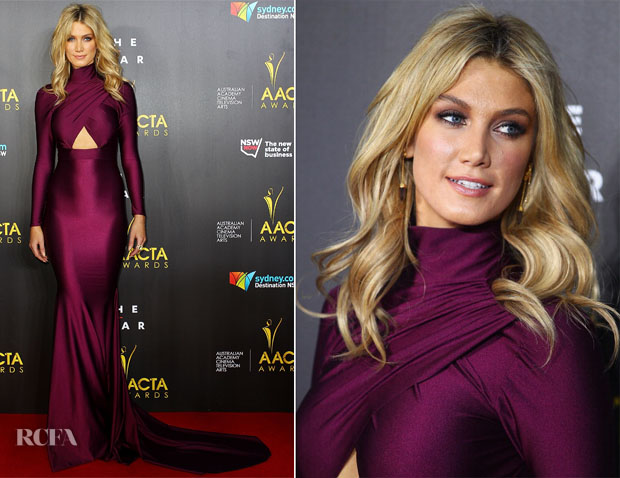 Delta Goodrem In Michael Costello- 3rd Annual AACTA Awards