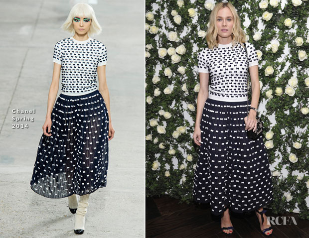 Diane Kruger In Chanel - W Magazine's Golden Globes Luncheon