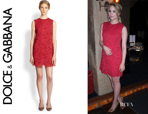Dianna Agron's Dolce & Gabbana Lace Shift Dress