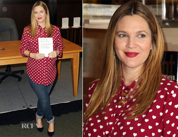 Drew Barrymore In Topshop & Brand - Barnes & Noble Book Signing