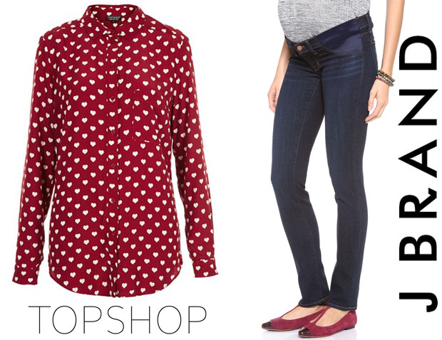 Drew Barrymore In Topshop & Brand