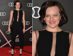 Elisabeth Moss In Georges Hobeika - Audi Celebrates The 2014 Golden Globes Weekend