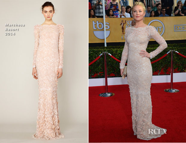 Elisabeth Rohm In Marchesa - 2014 SAG Awards