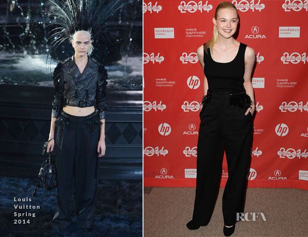 Elle Fanning In Louis Vuitton - 'Young Ones' Sundance Film Festival Premiere