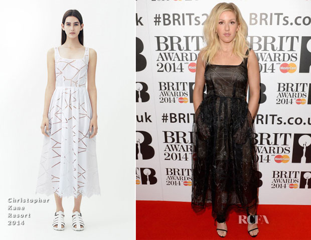 Ellie Goulding In Christopher Kane - BRIT Awards Nominations