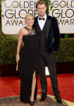 Elsa Pataky In Paule Ka & Chris Hemsworth In Dolce & Gabbana - 2014 Golden Globe Awards