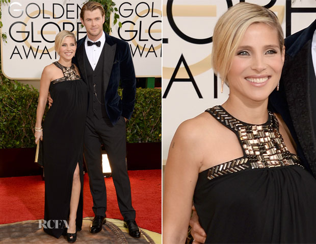 Elsa Pataky In Paule Ka & Chris Hemsworth In Dolce & Gabbana - 2014 Golden Globe Awards 2