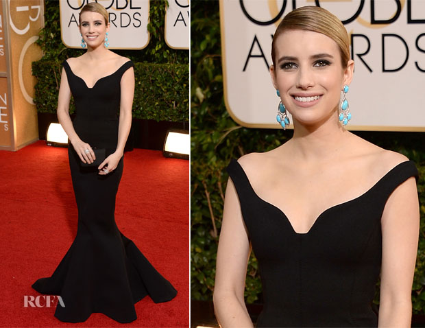 Emma Roberts In Lanvin - 2014 Golden Globe Awards