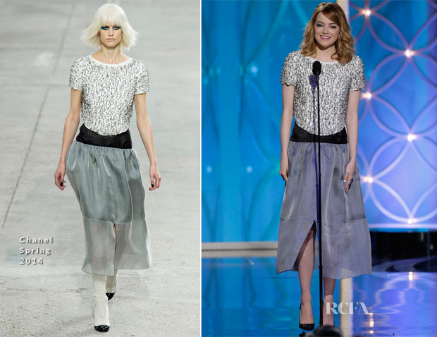 Emma Stone In Chanel - 2014 Golden Globe Awards