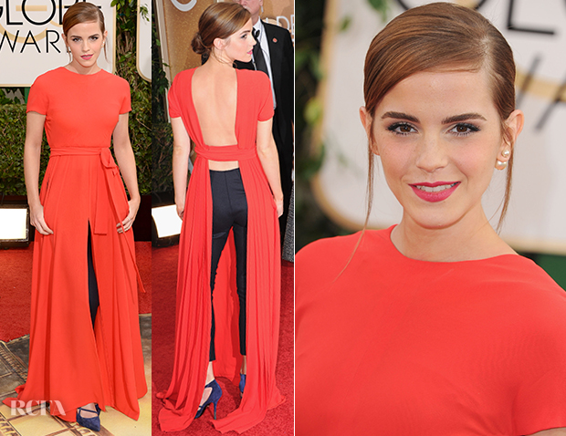 Emma Watson In Christian Dior Couture - 2014 Golden Globe Awards
