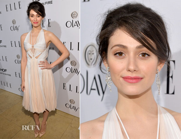 Emmy Rossum In J Mendel - ELLE's Annual Women In Television Celebration