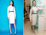 Emmy Rossum In Nonoo - Bergdorf Goodman Meet-And-Greet With Restorsea