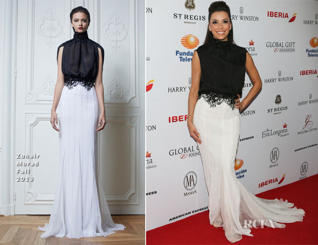 Eva Longoria In Zuhair Murad - Global Gift Gala Mexico