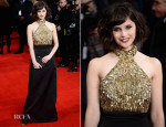 Felicity Jones In Alexander McQueen - 'The Invisible Woman' London Premiere