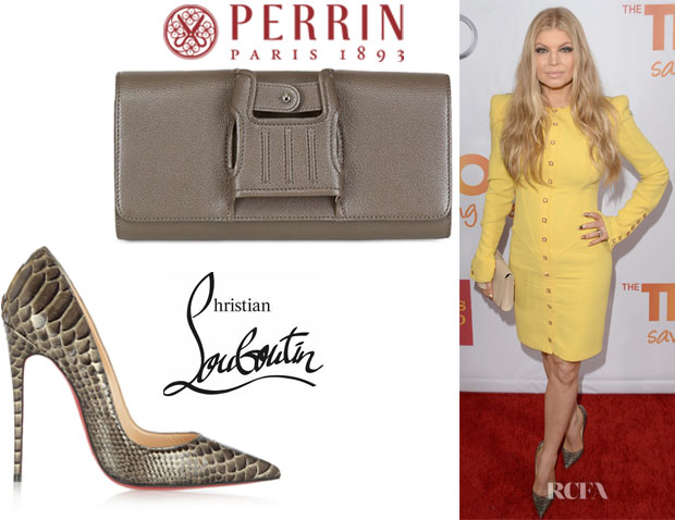 Fergie\u0026#39;s Christian Louboutin \u0026#39;So Kate\u0026#39; Python Pumps And Perrin ...