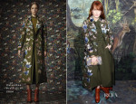 Florence Welch In Valentino - Valentino Spring 2014 Couture Front Row