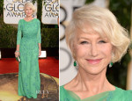 Helen Mirren In Jenny Packham - 2014 Golden Globe Awards