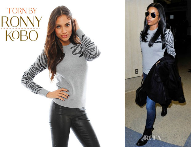 Gabrielle Union's Torn by Ronny Kobo 'Shauna' Zebra Sweater
