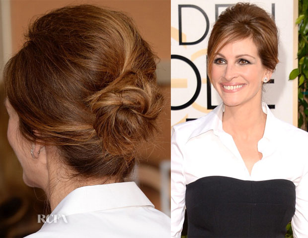 Get The Look Julia Roberts' 2014 Golden Globes Glamour Updo