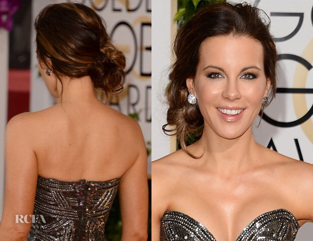 Get The Look Kate Beckinsale's 2014 Golden Globes Punk-Inspired Hair Do