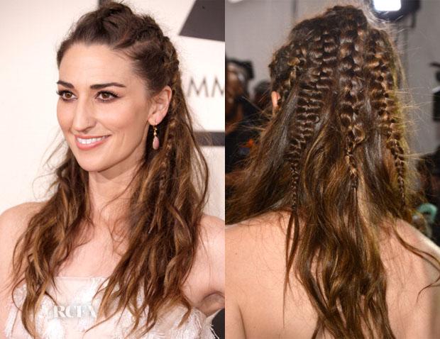 Get The Look Sara Bareilles' 2014 Grammy Awards Textured Braids