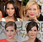 Golden Globes Hair Trend Spotting: Deep Side Parts