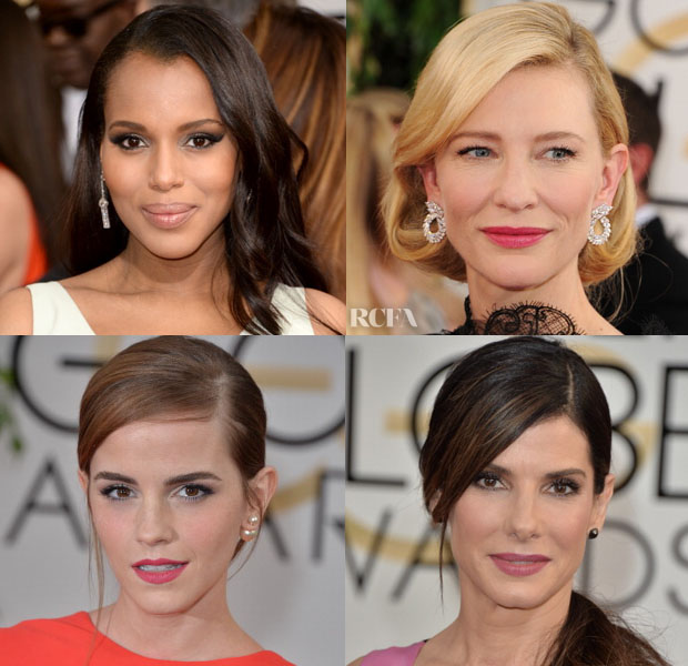 Golden Globes Hair Trend Spotting Deep Side Parts