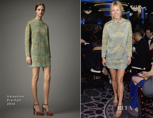 Gwyneth Paltrow In Valentino - 2014 Golden Globe Awards