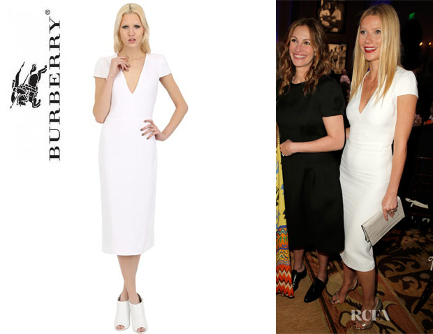Gwyneth Paltrow's Burberry Embroidered Viscose Cady Dress