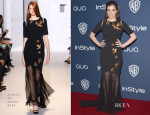 Hailee Steinfeld In Andrew Gn - InStyle and Warner Brothers Golden Globes Awards Party