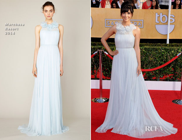 Hannah Simone In Marchesa - 2014 SAG Awards