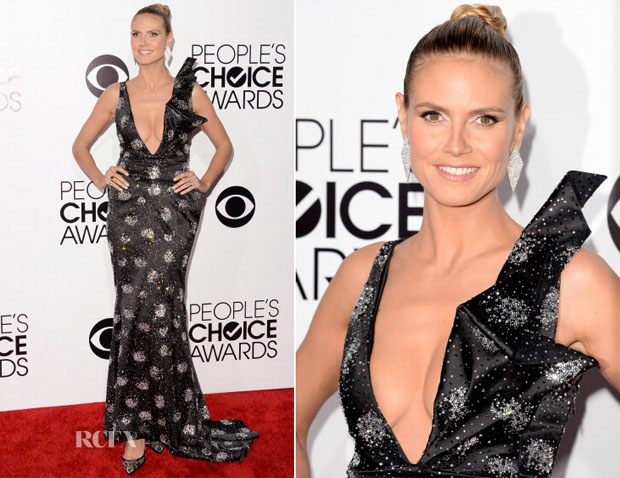 Heidi Klum In Giorgio Armani - 2014 People's Choice Awards