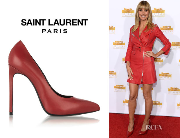 Heidi Klum's Saint Laurent Leather Pumps