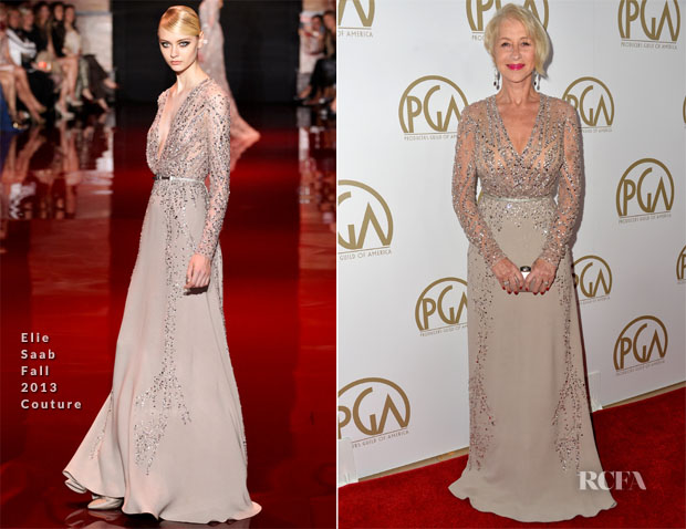Helen Mirren In Elie Saab Couture - 2014 Producers Guild of America Awards