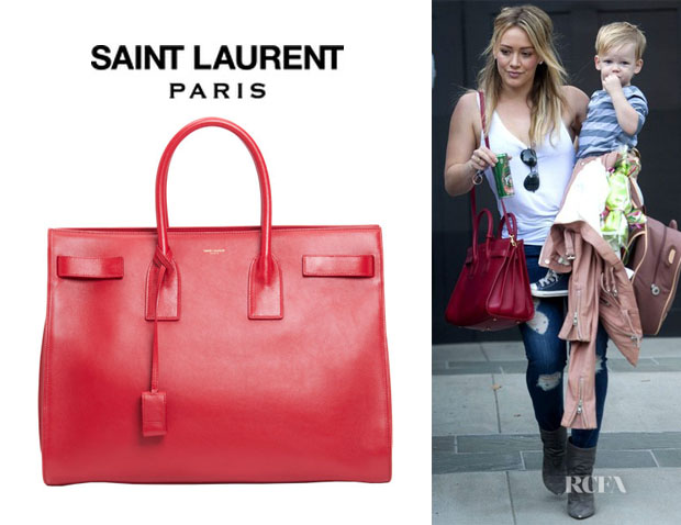 Hilary Duff's Saint Laurent 'Sac De Jour Mini' Leather Tote