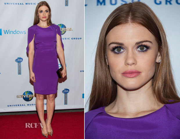 Holland Roden In Basler - Universal Music Group 2014 Post-Grammy Party