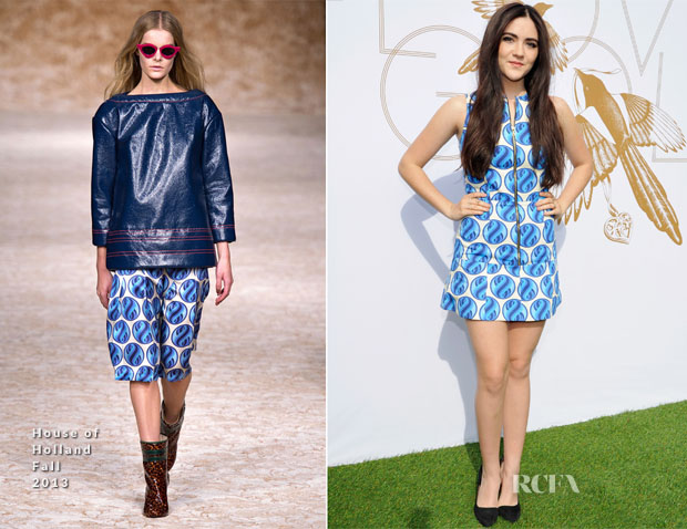 Isabelle Fuhrman In House of Holland - LoveGold Luncheon Honouring Michelle Dockery